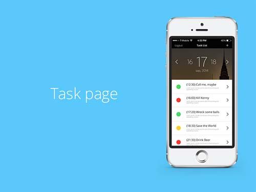 tasker UX / UI desing