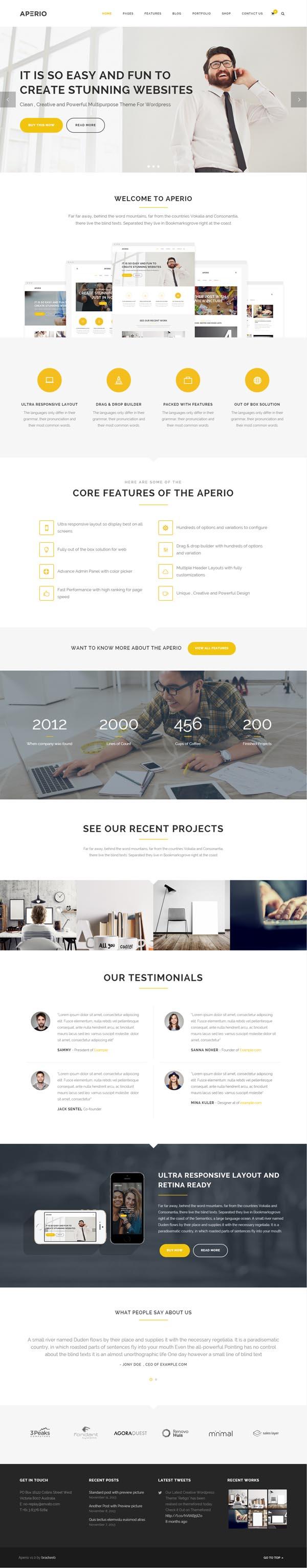 Aperio : Multipurpose WordPress Theme