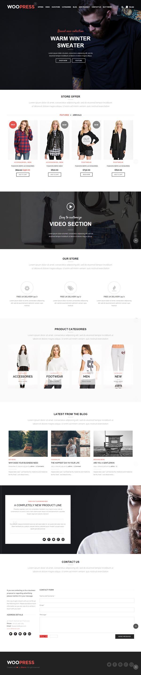 WooPress - Responsive Ecommerce WordPress WooTheme