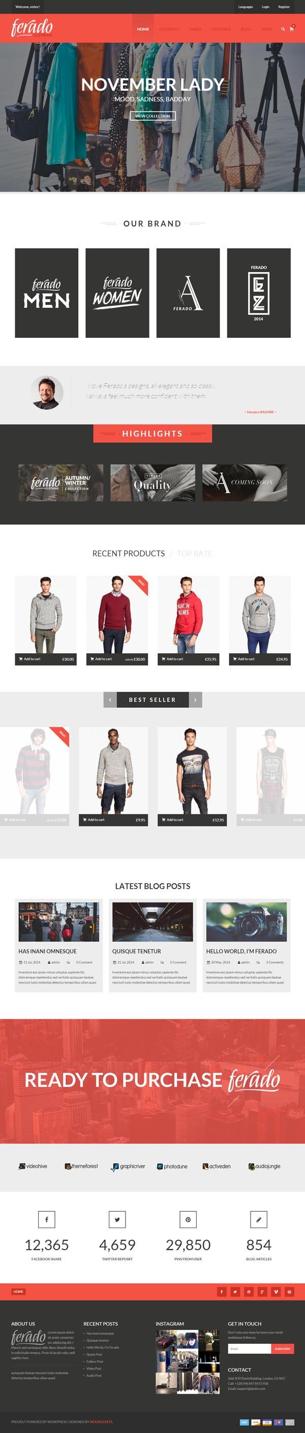 Ferado : WooCommerce Fashion Theme