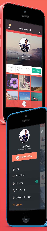 iPhone App Design - Sway Social App