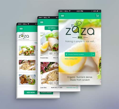 ZaZa Box App Mobile UI