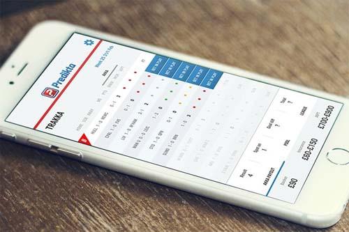 Predikta mobile dashboard app
