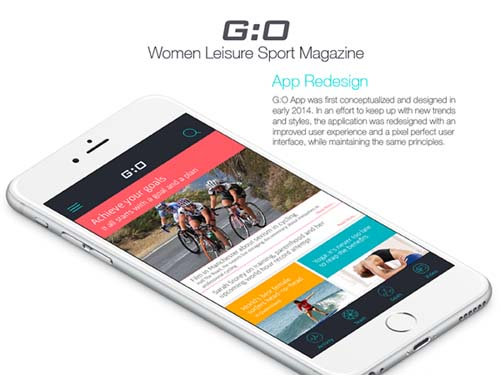 G:O Women Leisure Sport Magazine Redesign