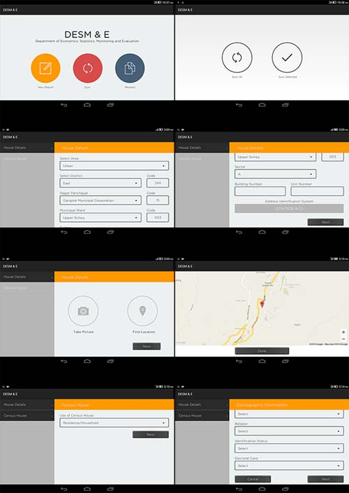 Government Project 'DESM & E' (Android), UI/UX