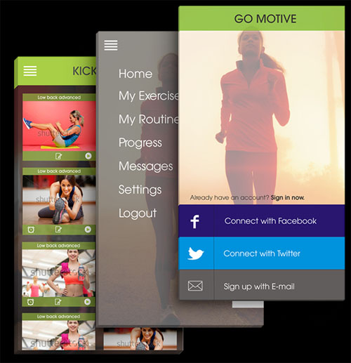 UI UX Presentation for Go Motive