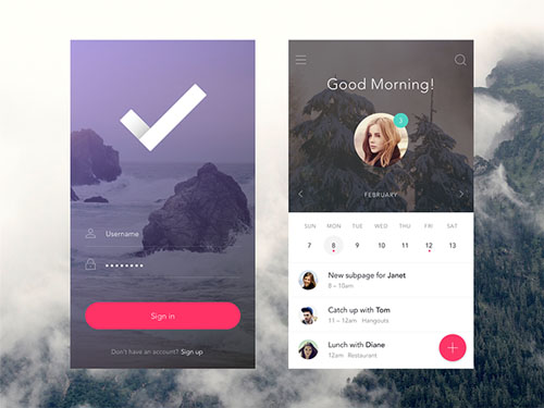 Simple and Modern App Screen