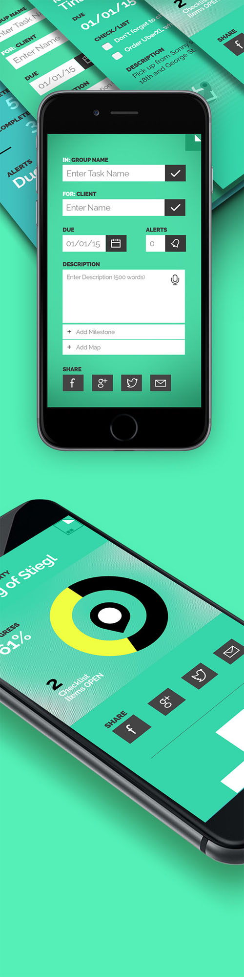 DoneList - To Do List App Concept
