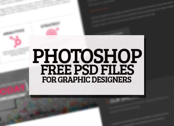 25 Fantastic Useful Free Photoshop PSD Files for Designers