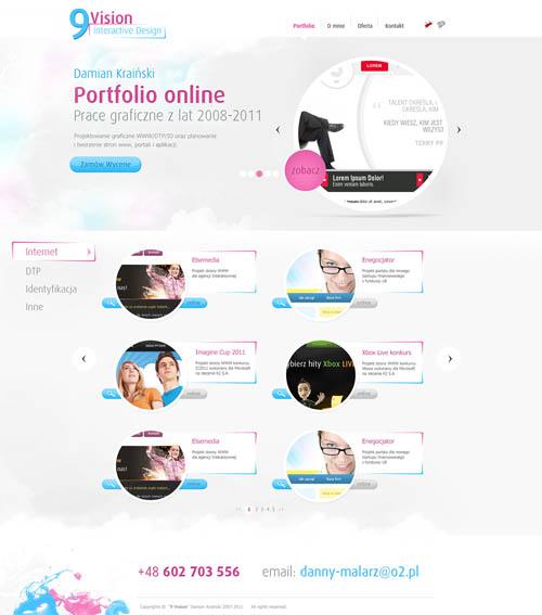 A pack of Web/UI/UX designs