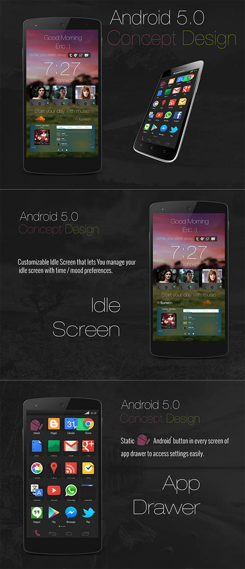 Android 5.0 Concept Design