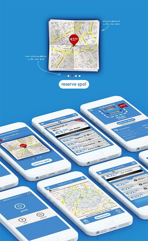Park Around 2013 UI designs