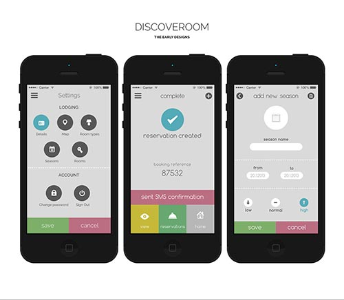 Discoveroom early designs