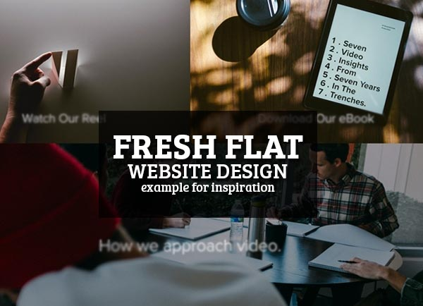 Fresh Flat Website Design – 15 Examples