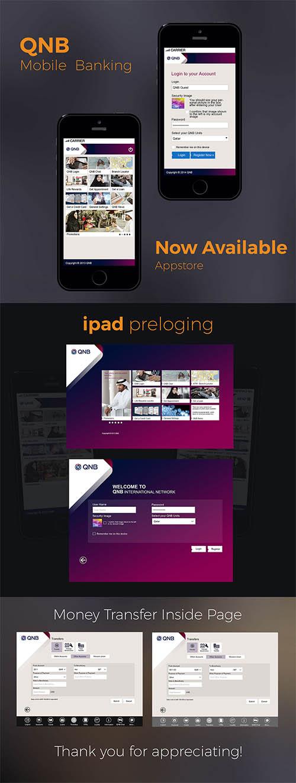 Qatar National Bank-Mobile App-UI UX Designs By Desingu rajan