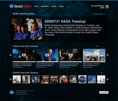 NASA Buzzroom By Andrew Couldwell