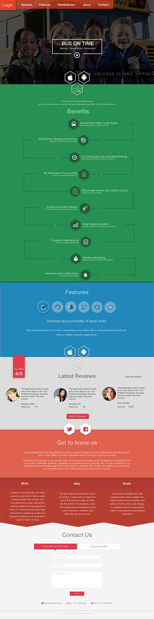 Website Design Mock By Apoorva Nair