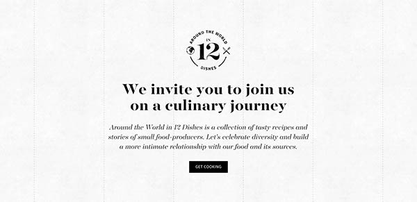 Around the World in 12 Dishes By Elespacio