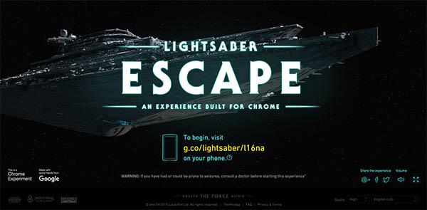 Star Wars: Lightsaber Escape By UNIT9