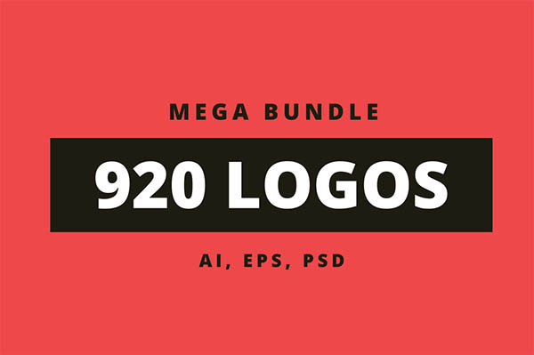 900+ Amazing Logos Bundle Available in .AI & .PSD - 1