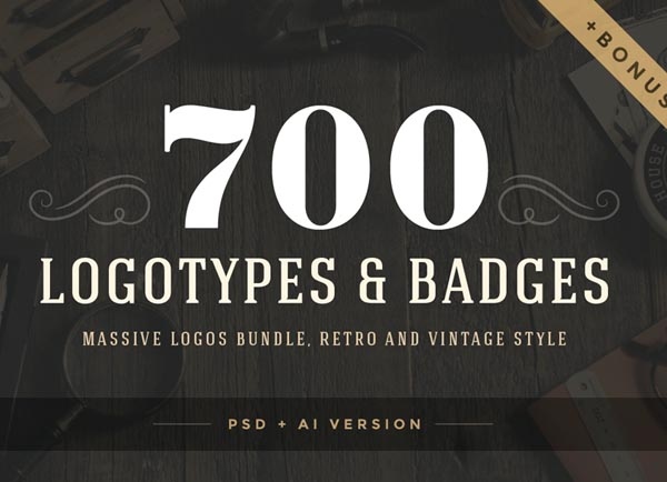 700 Retro Vintage Logotypes and Badges