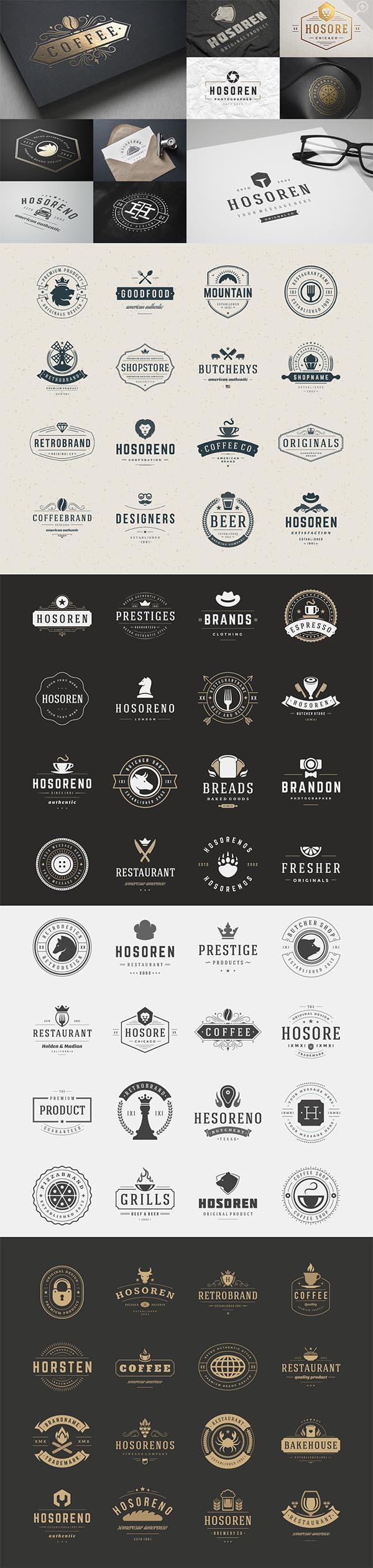 700 Retro Vintage Logotypes and Badges - 1