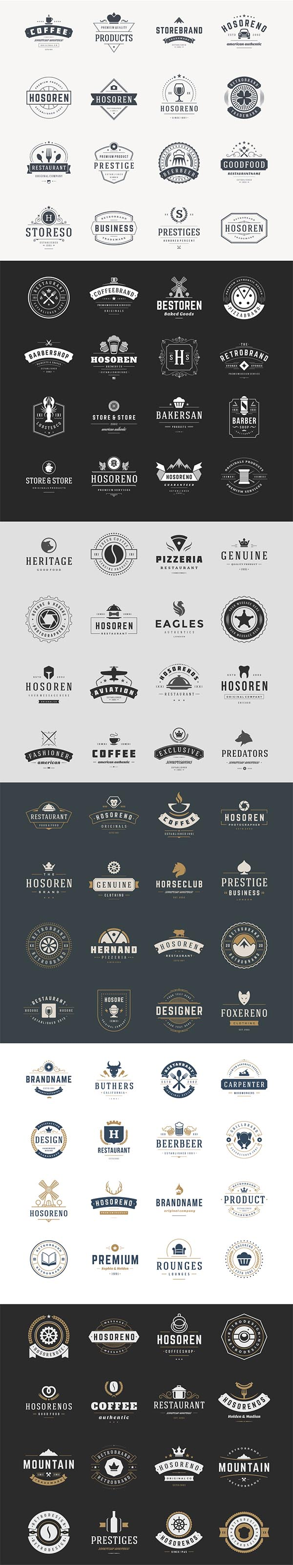700 Retro Vintage Logotypes and Badges - 2