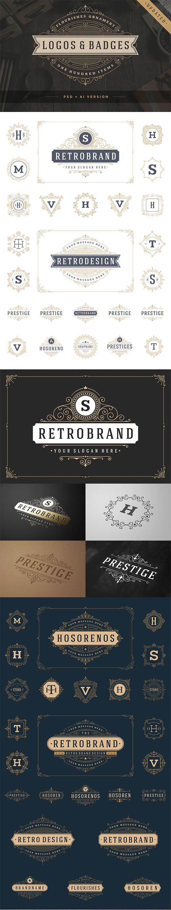 700 Retro Vintage Logotypes and Badges - 3
