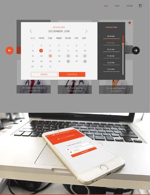Virtual Clinic App UI By Anuja Kanani