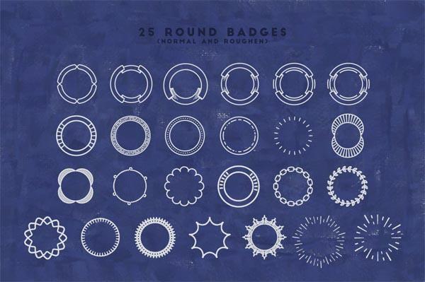 55 Fonts, Vectors and Badges Bundle for Designers - 12