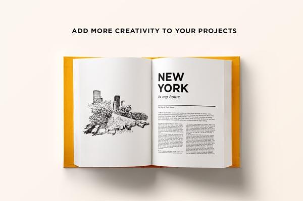55 Fonts, Vectors and Badges Bundle for Designers - 31