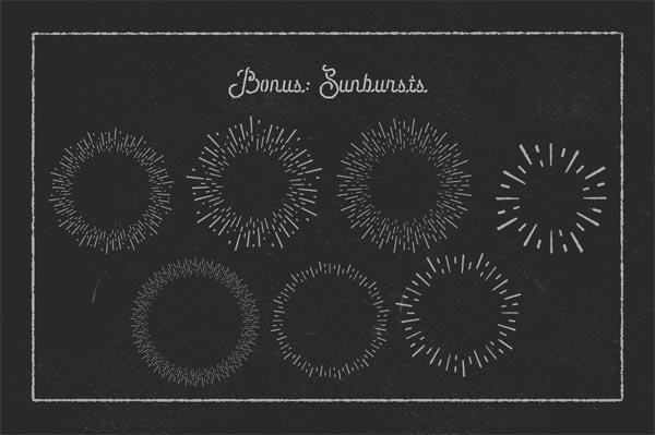 55 Fonts, Vectors and Badges Bundle for Designers - 36