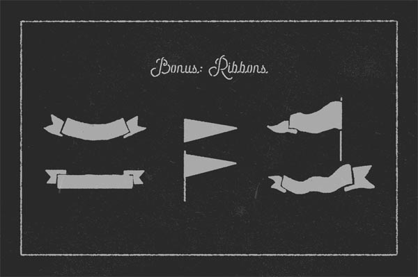55 Fonts, Vectors and Badges Bundle for Designers - 37