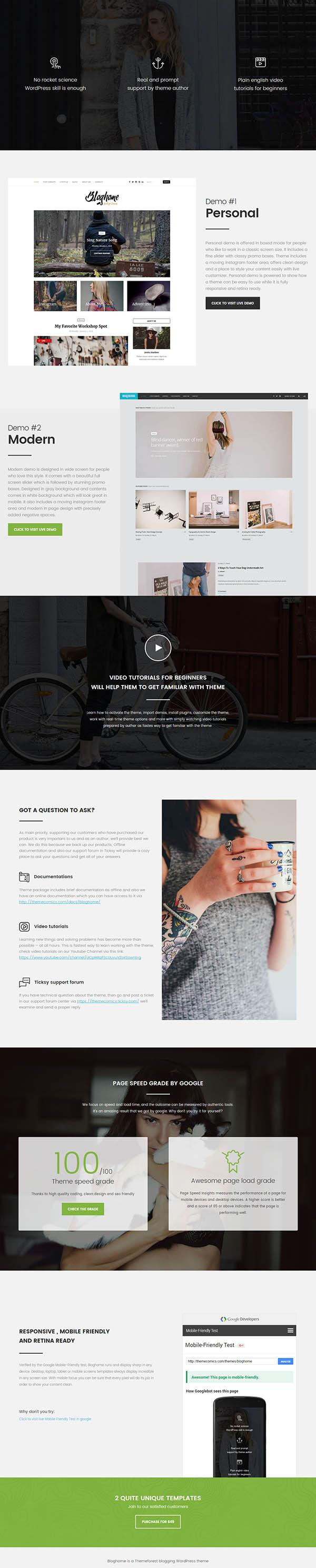 Blog Home : Responsive WordPress Blog Theme