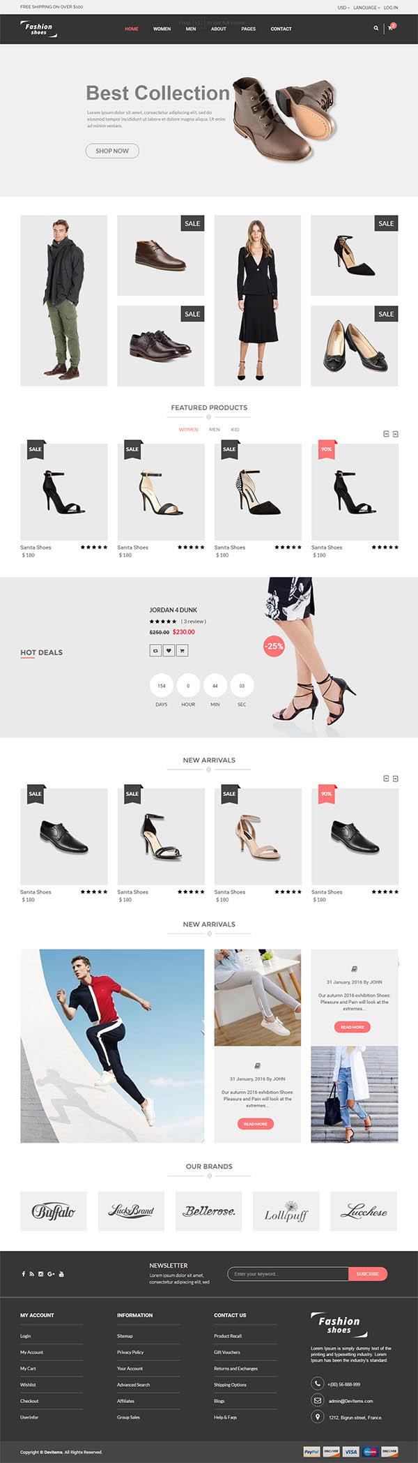 Fashion Shoes - eCommerce Shoe Template