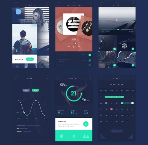 Flat UI Kit for iOS and Android Devices