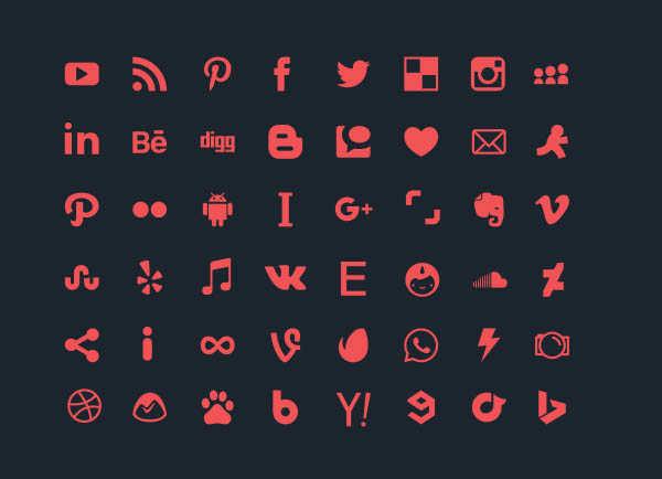 48 Vector Social Media Icons - Free Download