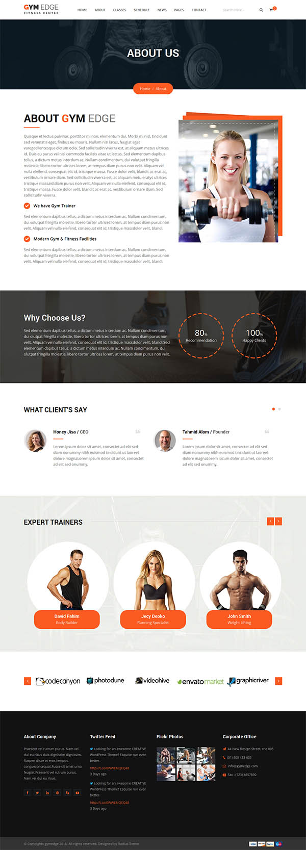 GYM Edge - Gym & Fitness HTML5 Responsive Template