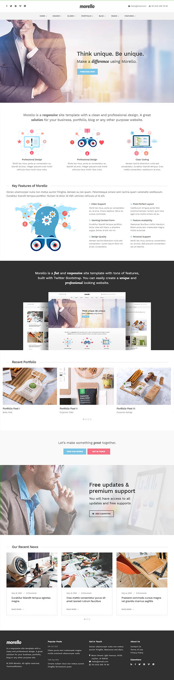 Morello : Multipurpose Business WordPress Theme