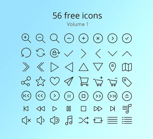 56 Icons Set - Free Download