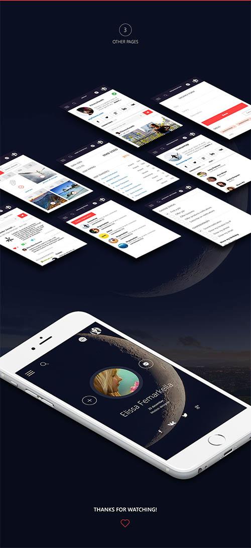 Mobile Application UI By Julia Savchuk