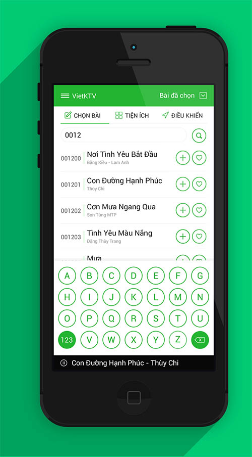 Vietnam KTV Remote IOS 7 APP By Ha Truong