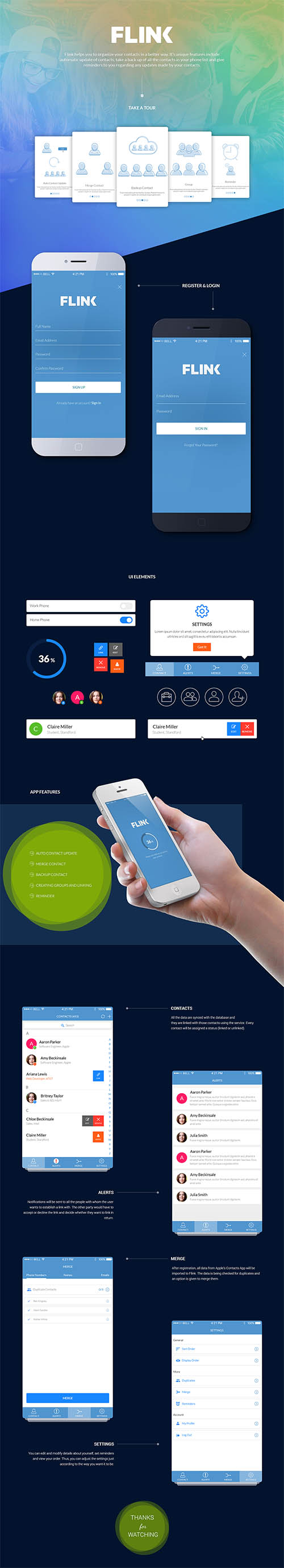 Contact app UI By Chanchal Pramanik