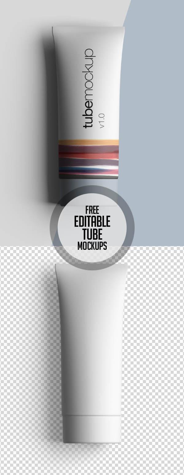 Free Premium Editable Tube Mockup