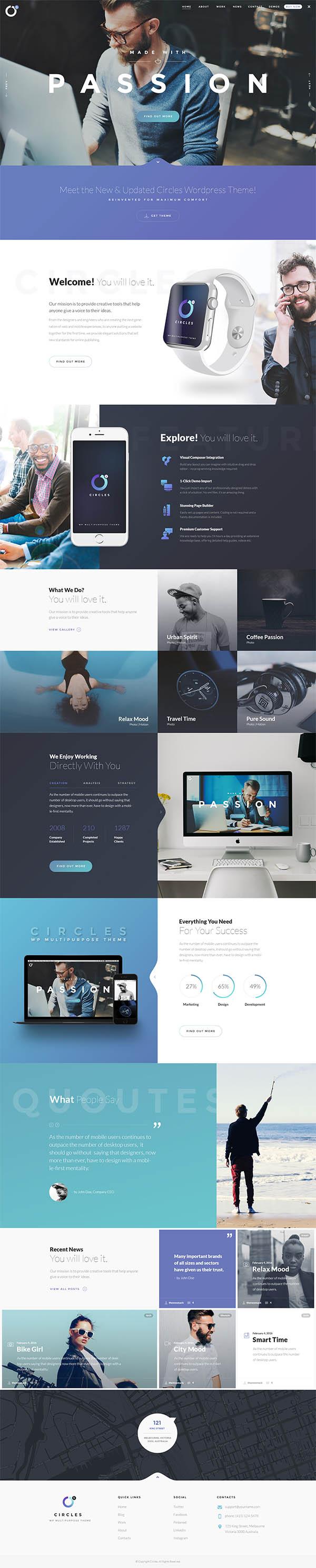 Circles 5 | Mutil-Concept Creative PSD Template
