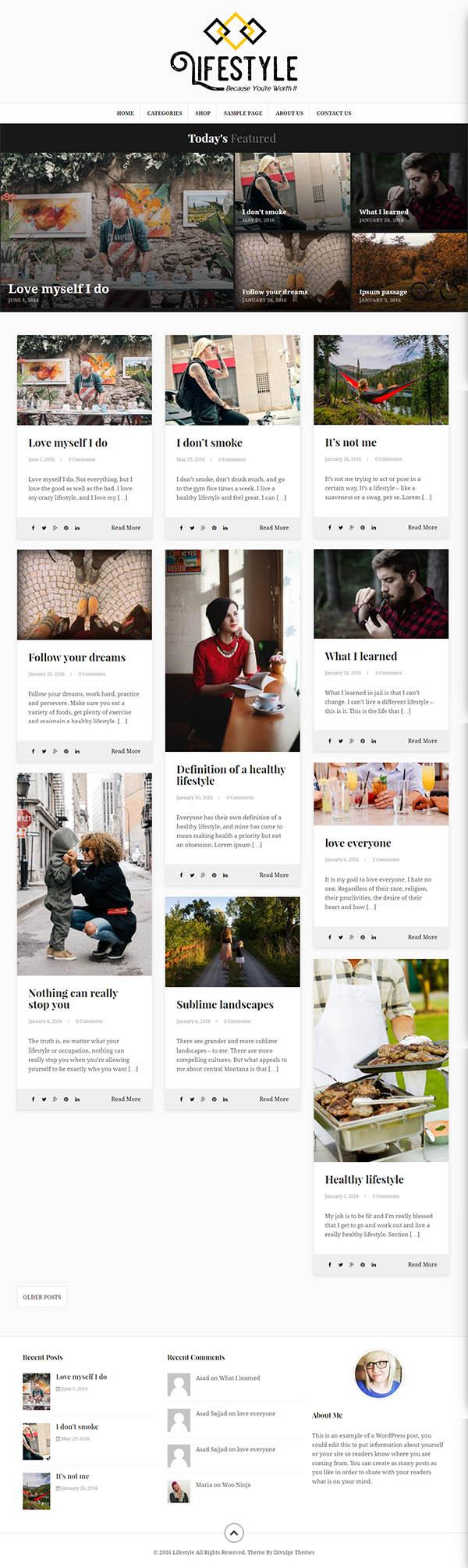 Lifestyle : Multipurpose Blog/Magazine Theme