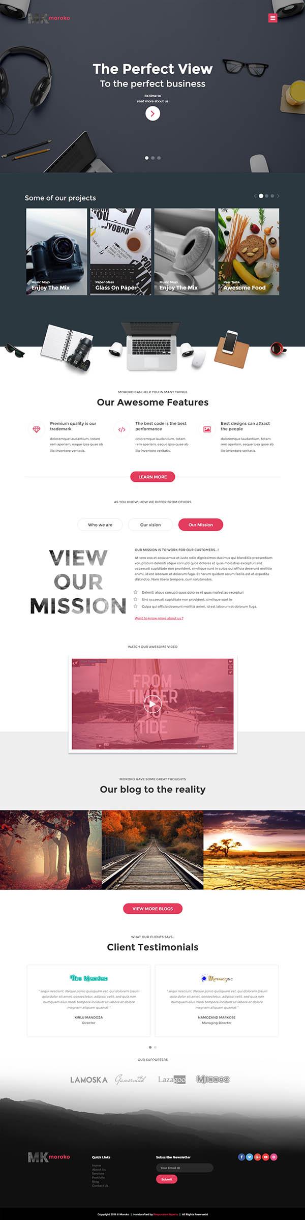 Moroko : Creative Bootstrap Responsive WordPress Theme