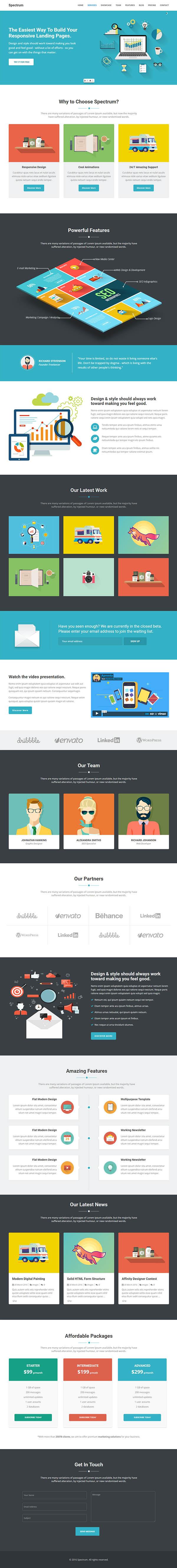 Spectrum : Marketing Landing Page WordPress Theme