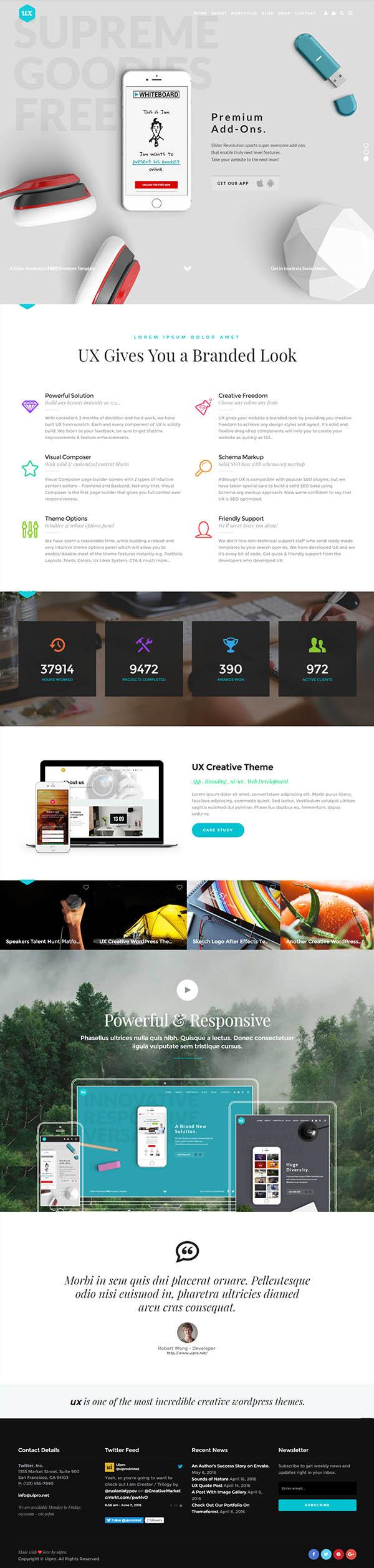 UX : Creative WordPress Theme