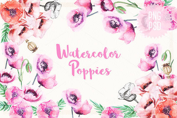 Watercolor Floral Elements for Graphic Designers - 6
